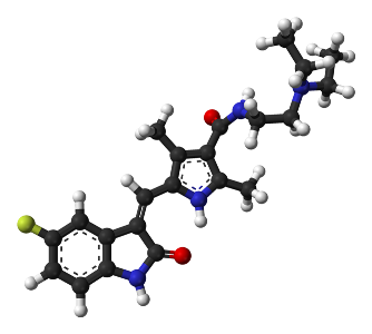 Sunitinib molecule. Image credit: National Library of Medicine, National Institutes of Health