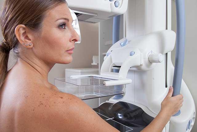 Patient undergoes routine mammography.