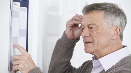 Dementia in an elderly man