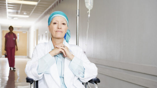Patient receiving chemotherapy